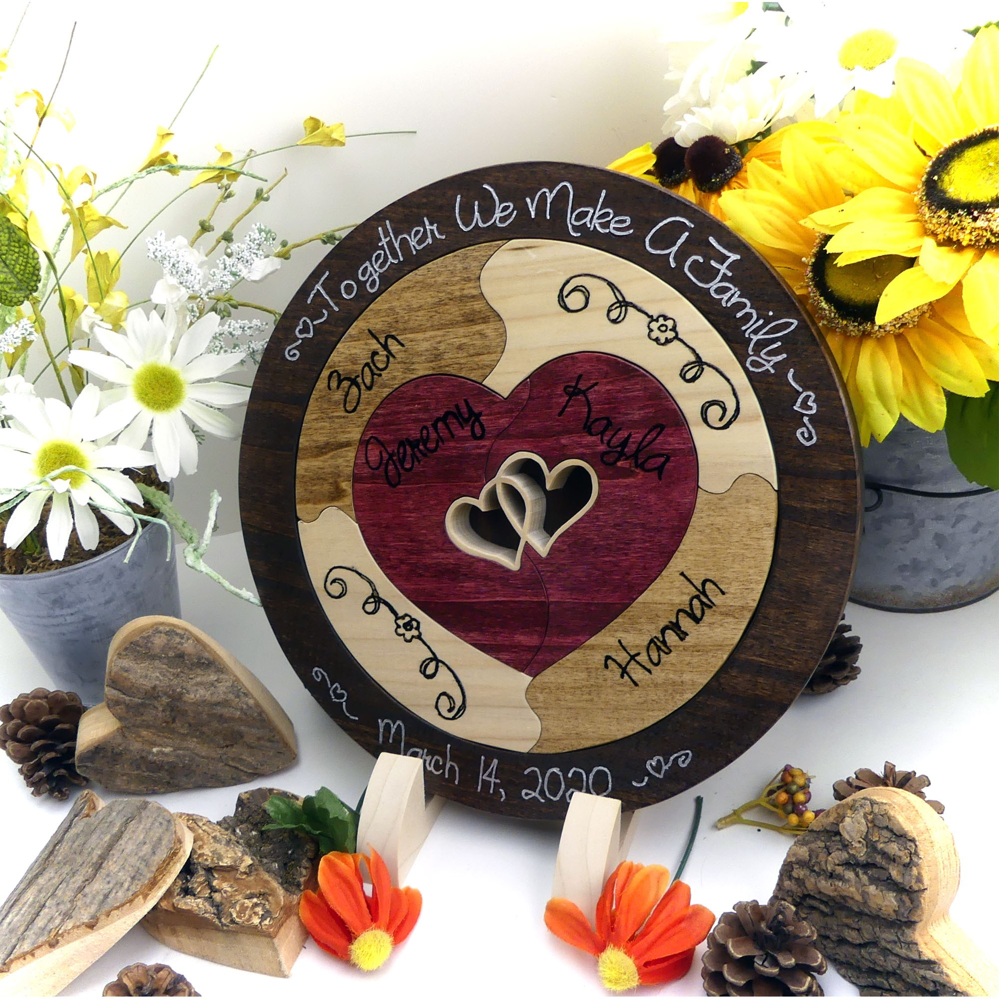 Small Family Wedding Ideas: Personalized :: Family Unity Puzzle Wedding Unity Ceremony