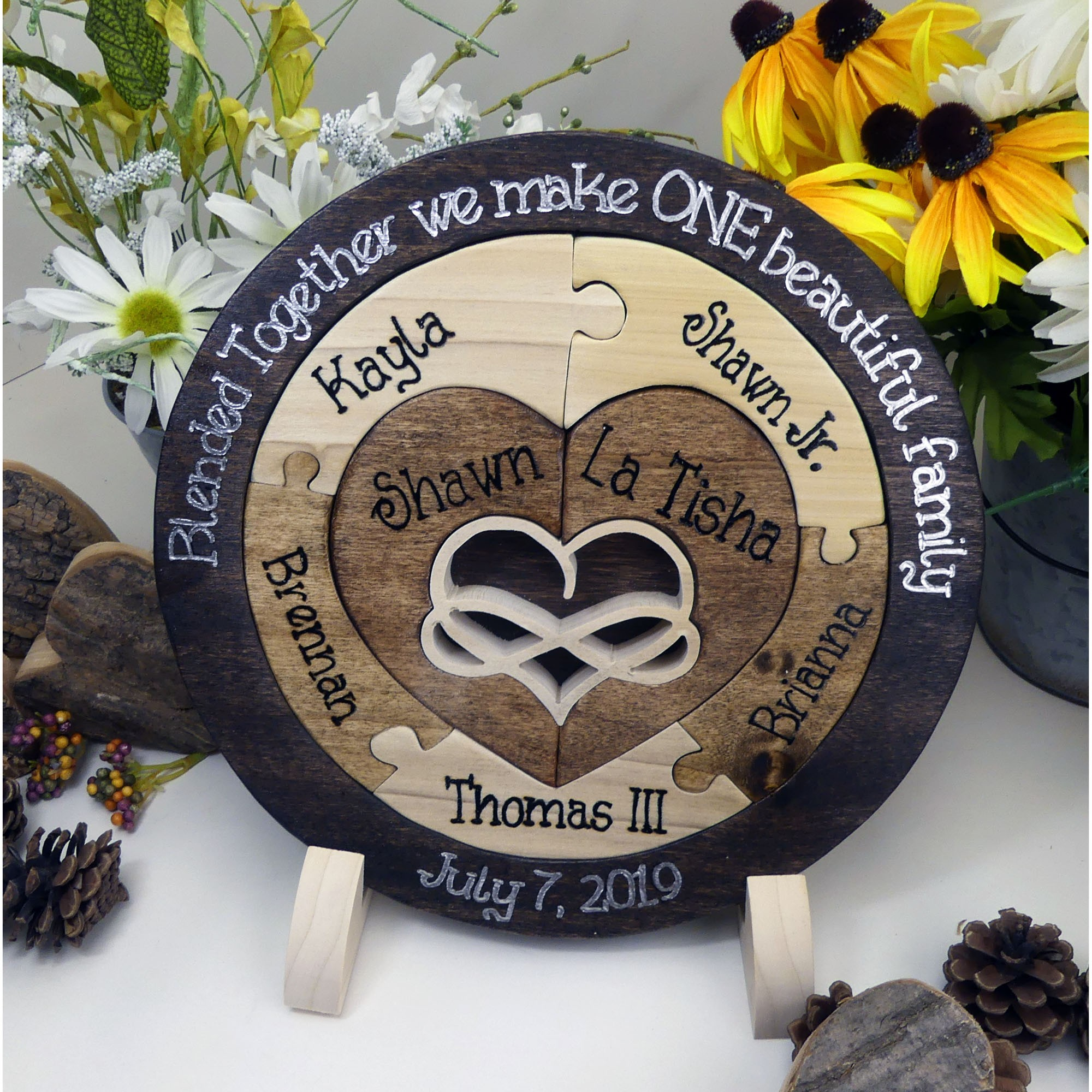 Wedding Gifts For Relatives: Personalized :: Family Wedding Unity Puzzle Unity Candle